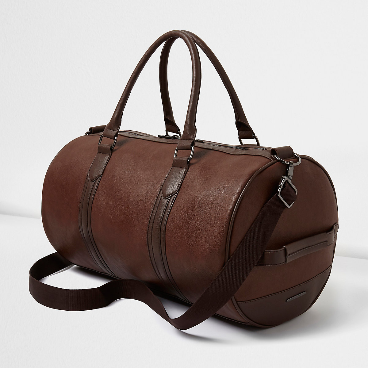 Tan faux leather holdall