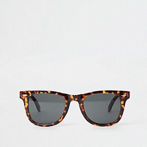 Lunettes de soleil pliables motif écaille de tortue marron