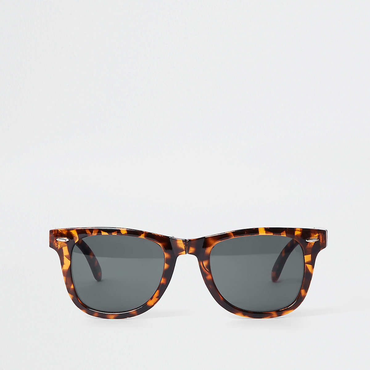 Brown tortoise shell foldable sunglasses