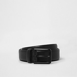 Black matte buckle belt