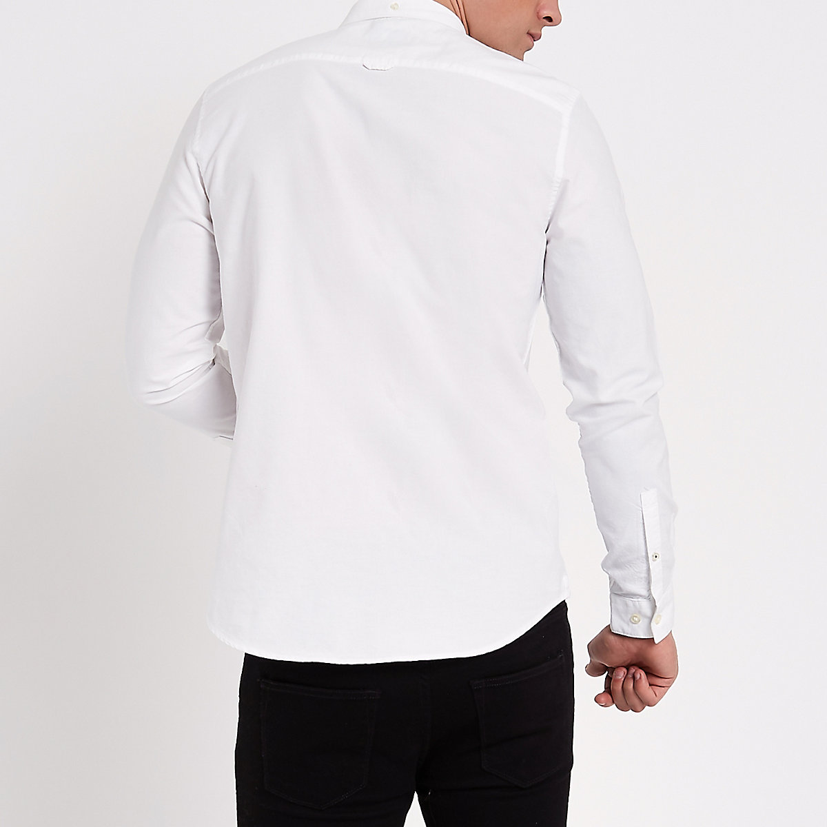 ... White wasp embroidered pocket Oxford shirt ...