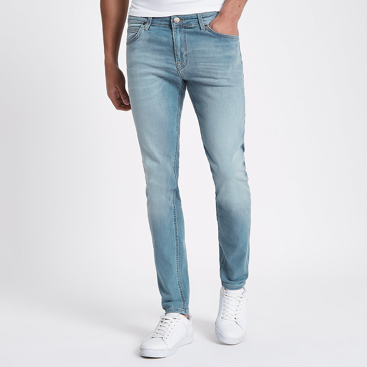 Lee light blue skinny fit Malone jeans