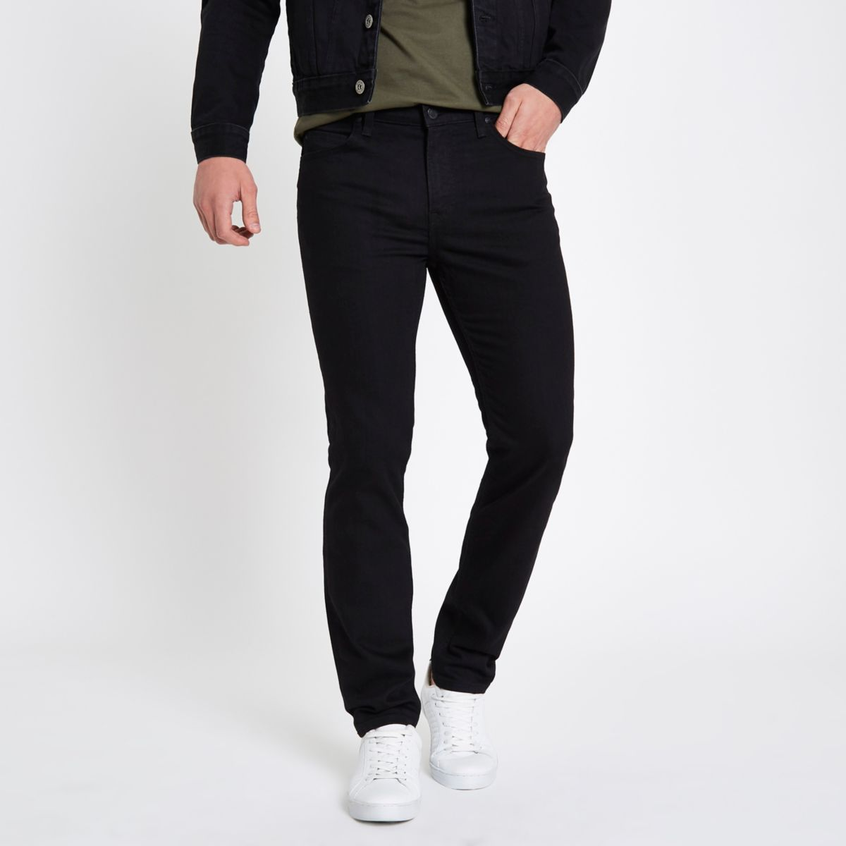 Lee – Schwarze Slim Fit Jeans