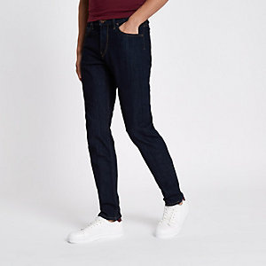 Lee - Rider - Donkerblauwe slim-fit jeans