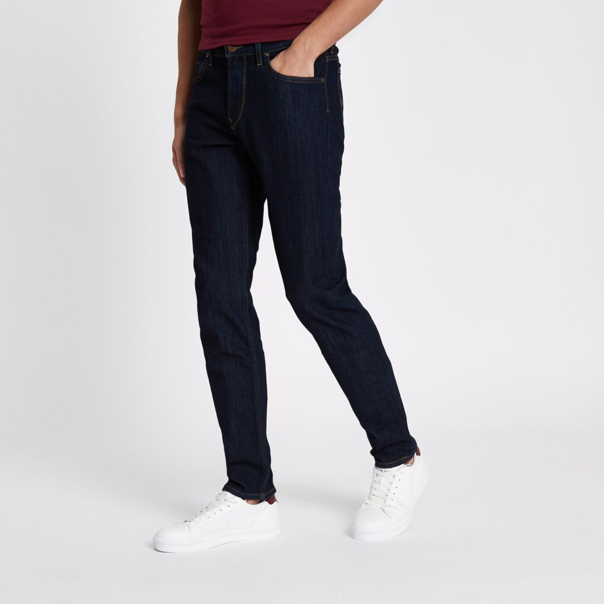 Lee dark blue slim fit Rider jeans