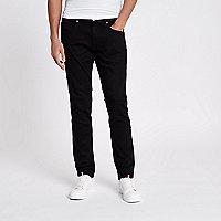 Black Lee slim fit tapered jeans