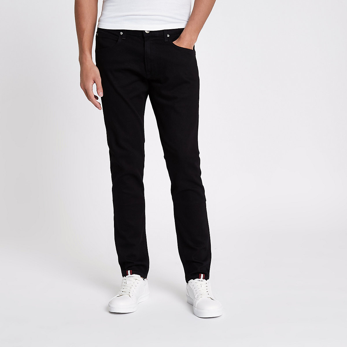 Lee black slim fit tapered Luke jeans