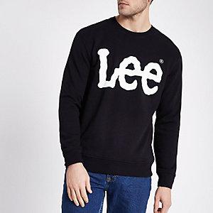 Schwarzes Sweatshirt mit Logoprint