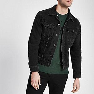 Lee – Veste en jean slim noire