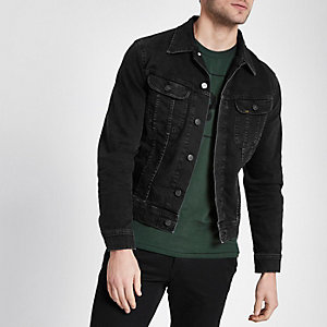 Lee - Zwart slim-fit denim jack