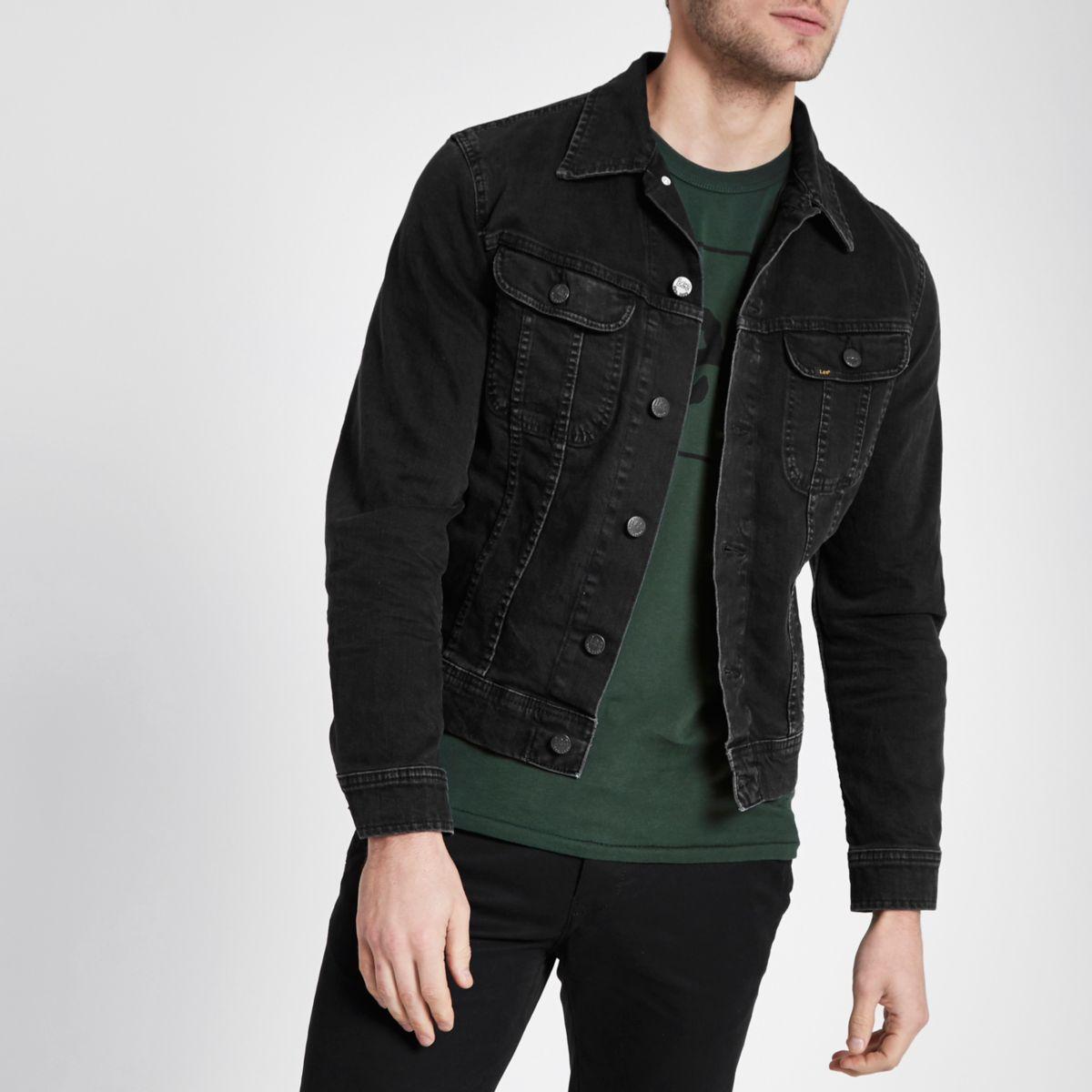 Black Lee slim fit denim jacket