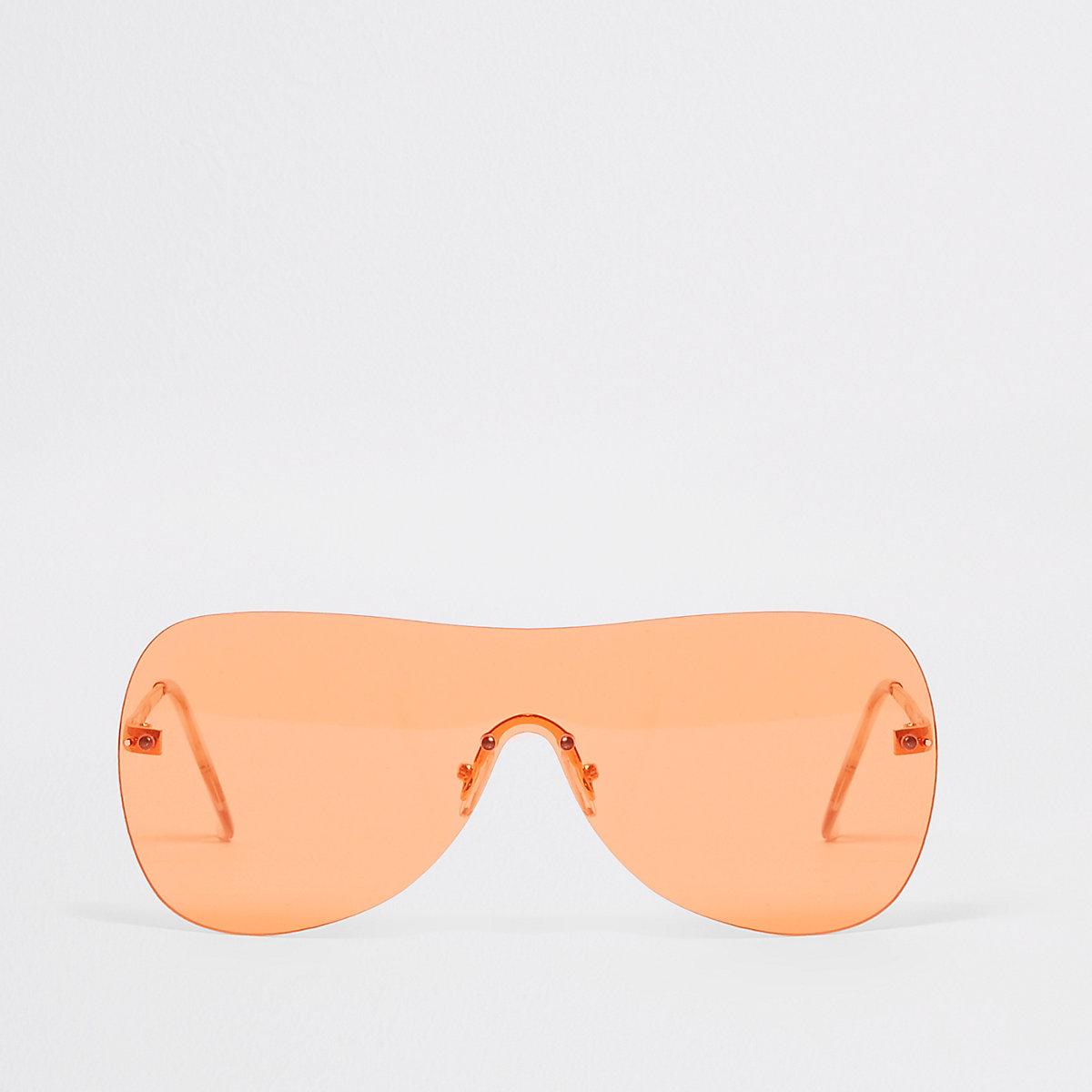 Orange tone visor aviator sunglasses