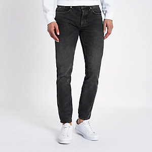 Dark blue warp stretch skinny jeans