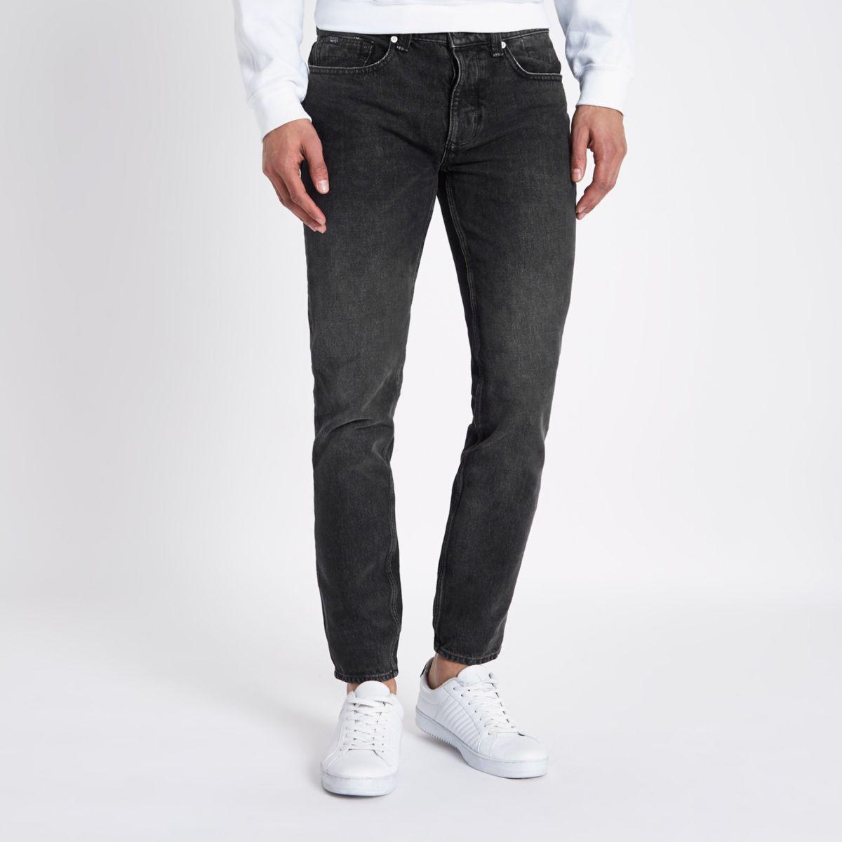 Schwarze, dehnbare Skinny Jeans