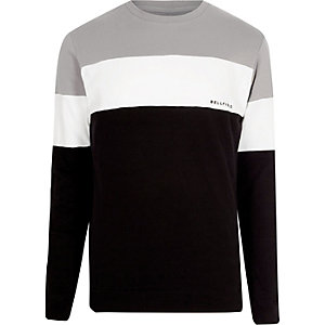 Grey Bellfield color block sweatshirt