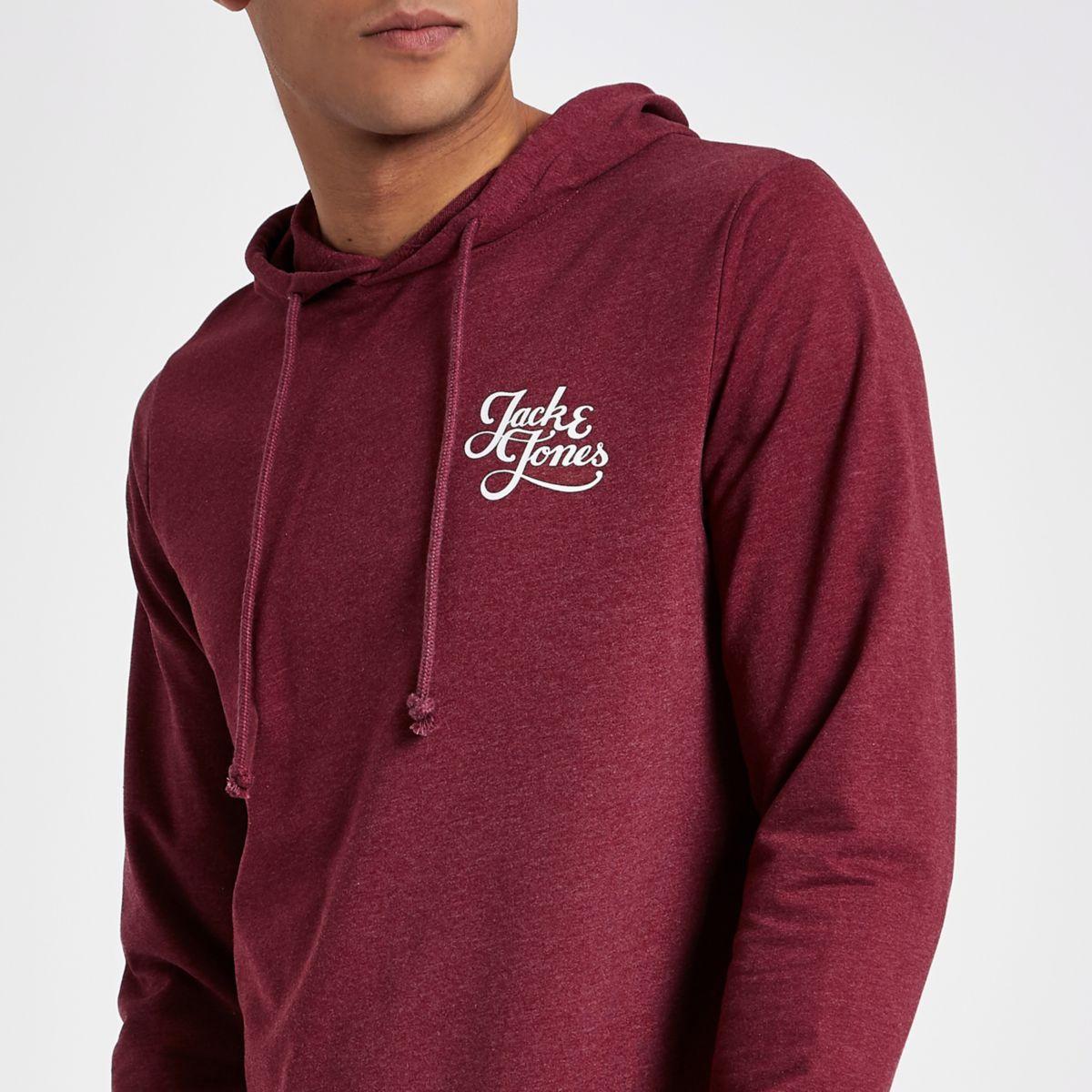 Jack & Jones Originals red hoodie