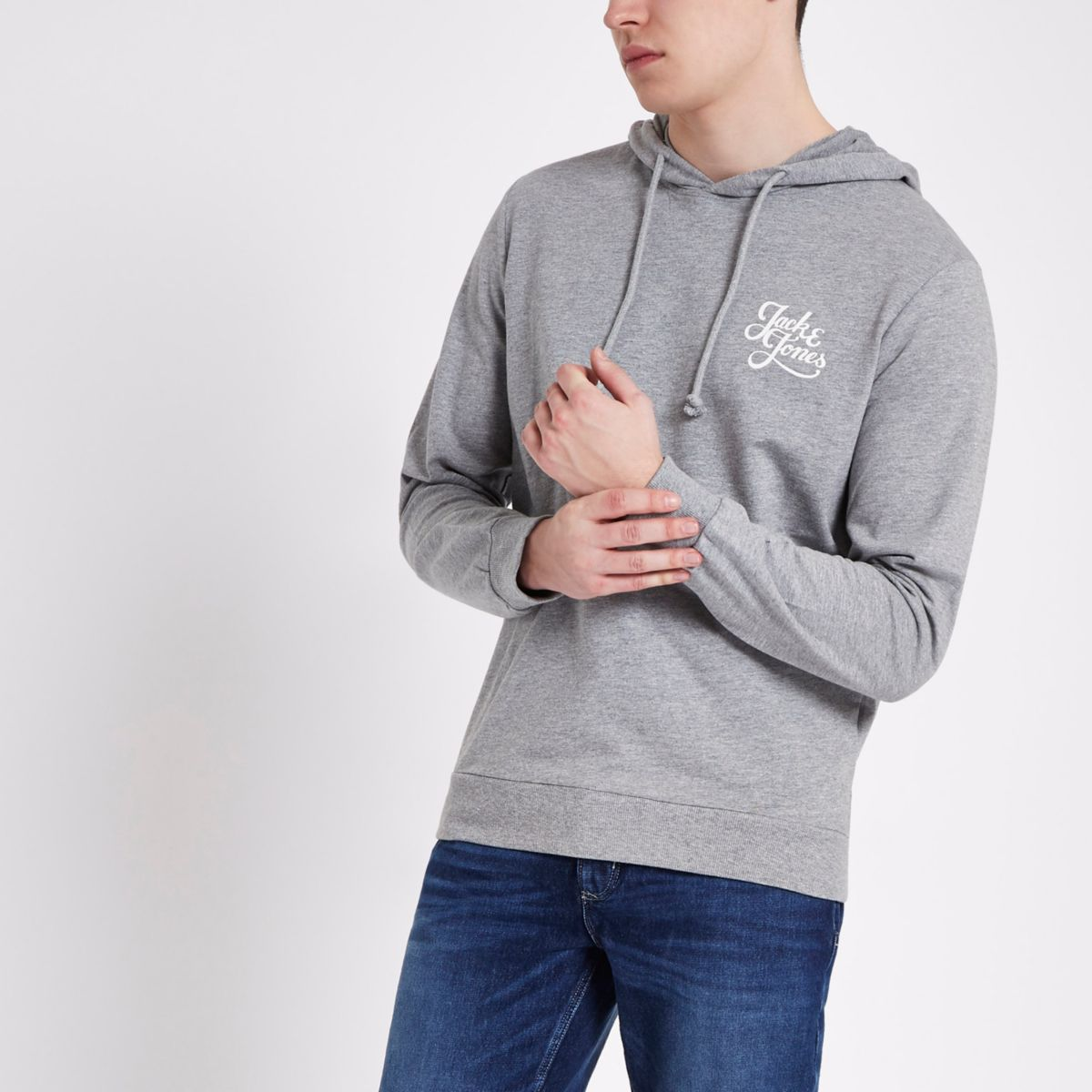 Jack & Jones Originals grey hoodie