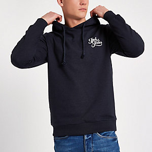 Jack & Jones Originals - Marineblauwe hoodie