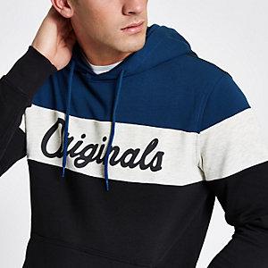 Jack & Jones Originals - Blauw geruite hoodie