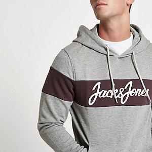 Jack & Jones Originals - Grijze geblokte hoodie