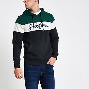 Jack & Jones Originals - Groen geblokte hoodie