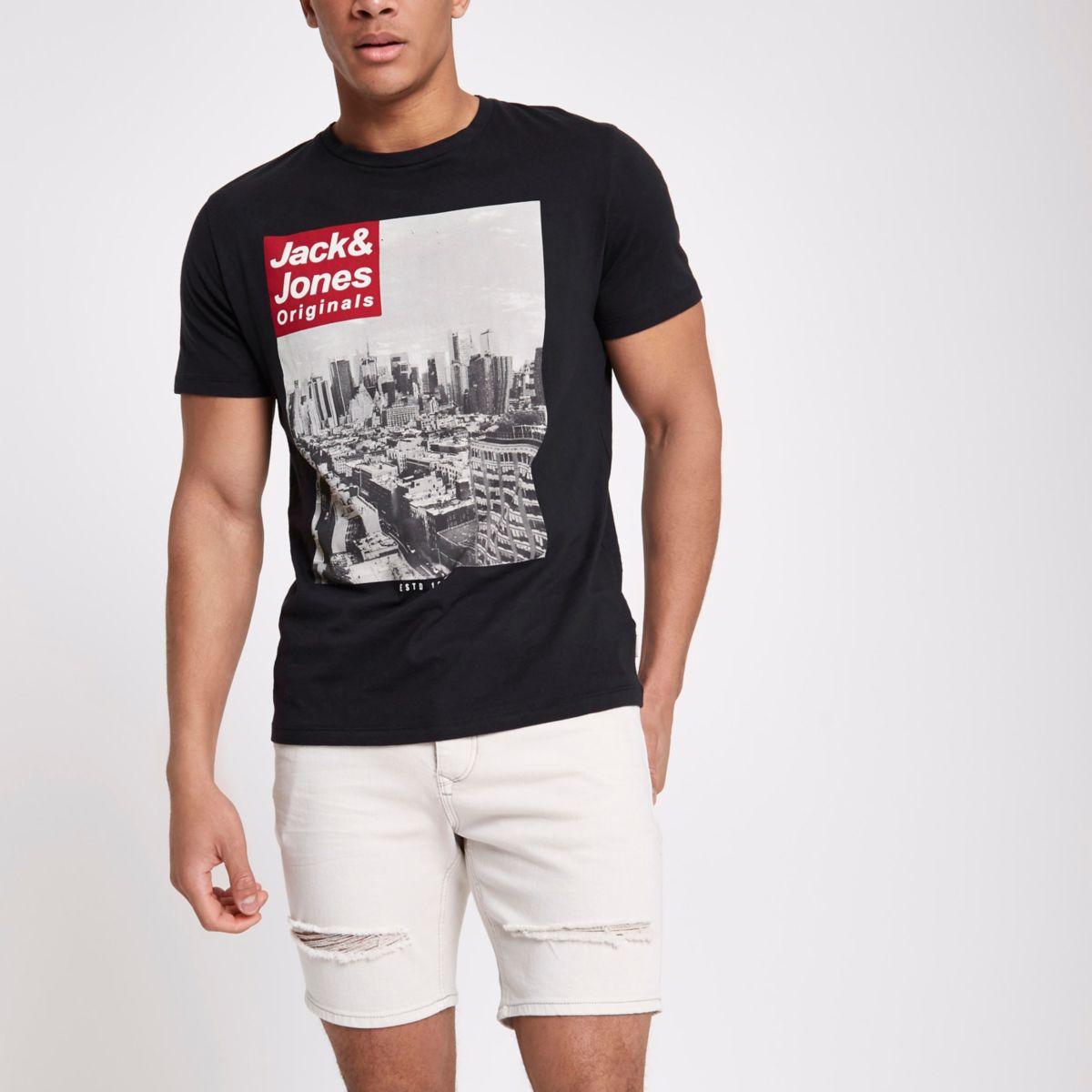 Jack & Jones Originals black photo T-shirt