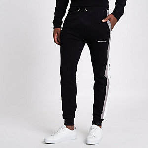 Black Bellfield stripe side joggers
