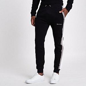 Bellfield – Pantalon de jogging noir à rayure sur le côté