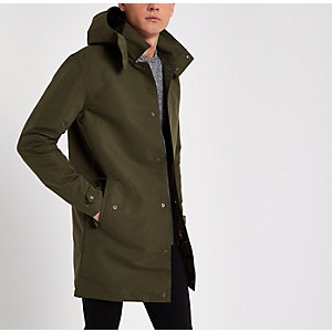 Dark green Jack & Jones long parka jacket