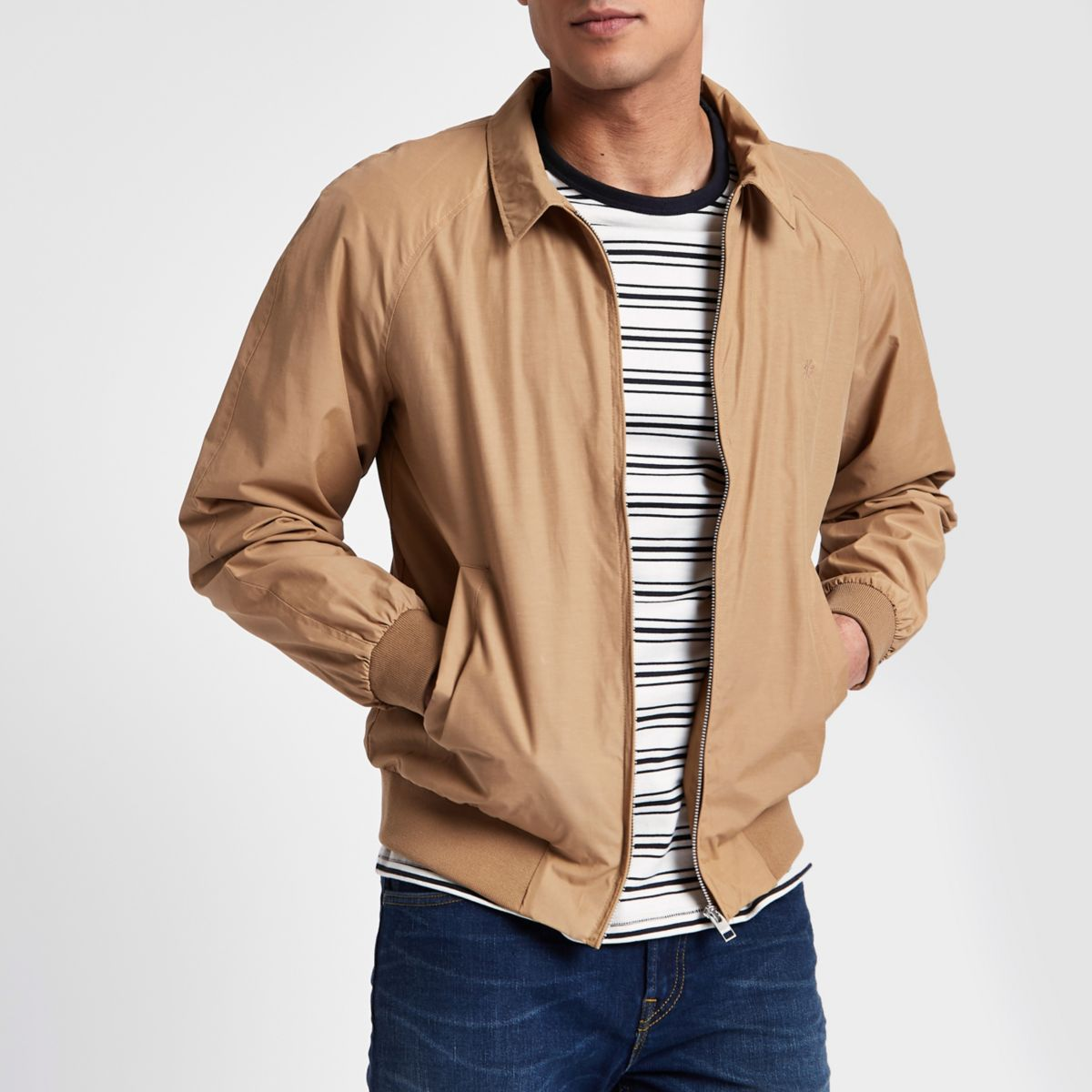 Jack & Jones tan harrington jacket