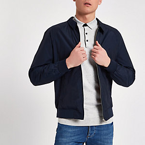 Jack & Jones – Marineblaue Harrington-Jacke