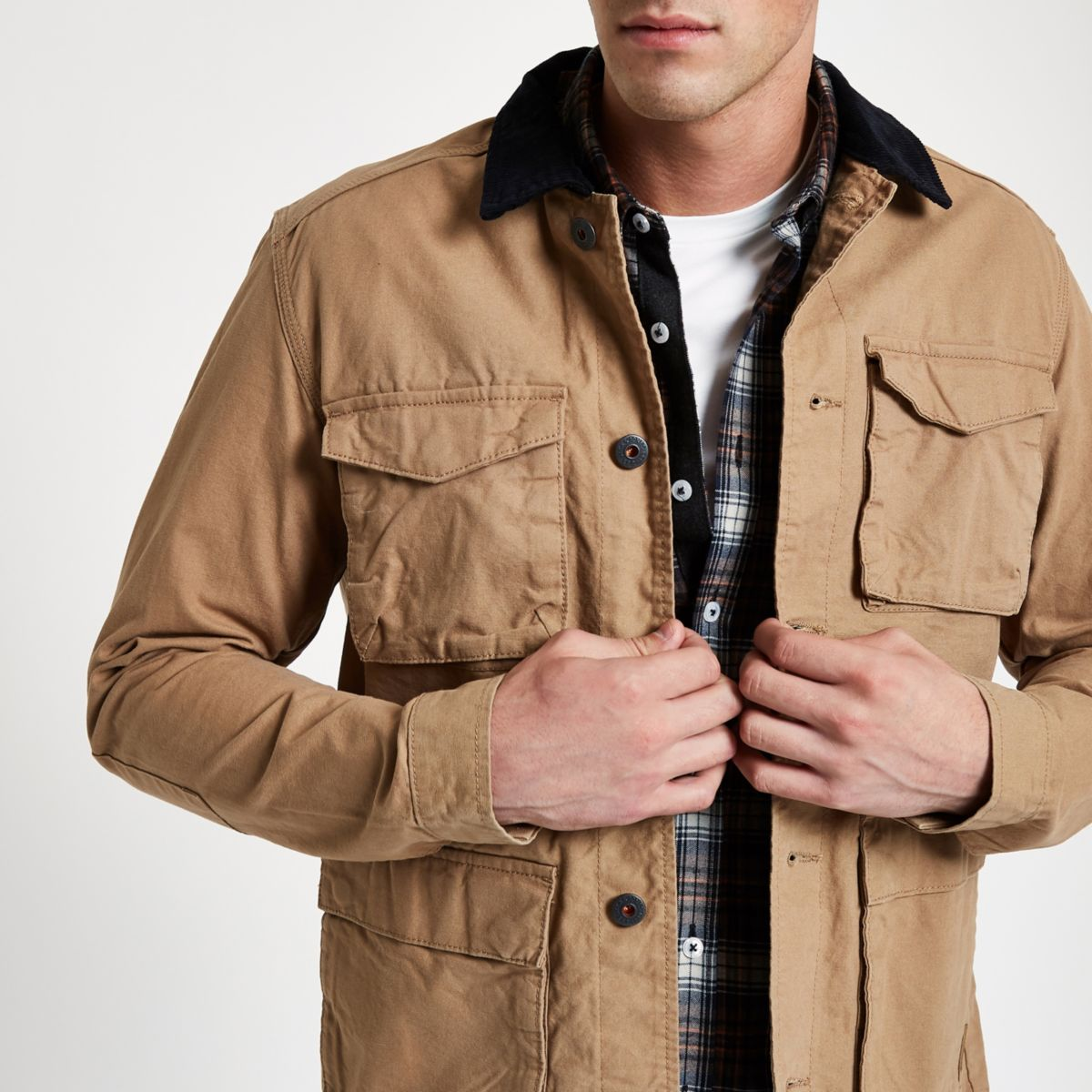 Jack & Jones Originals stone field jacket