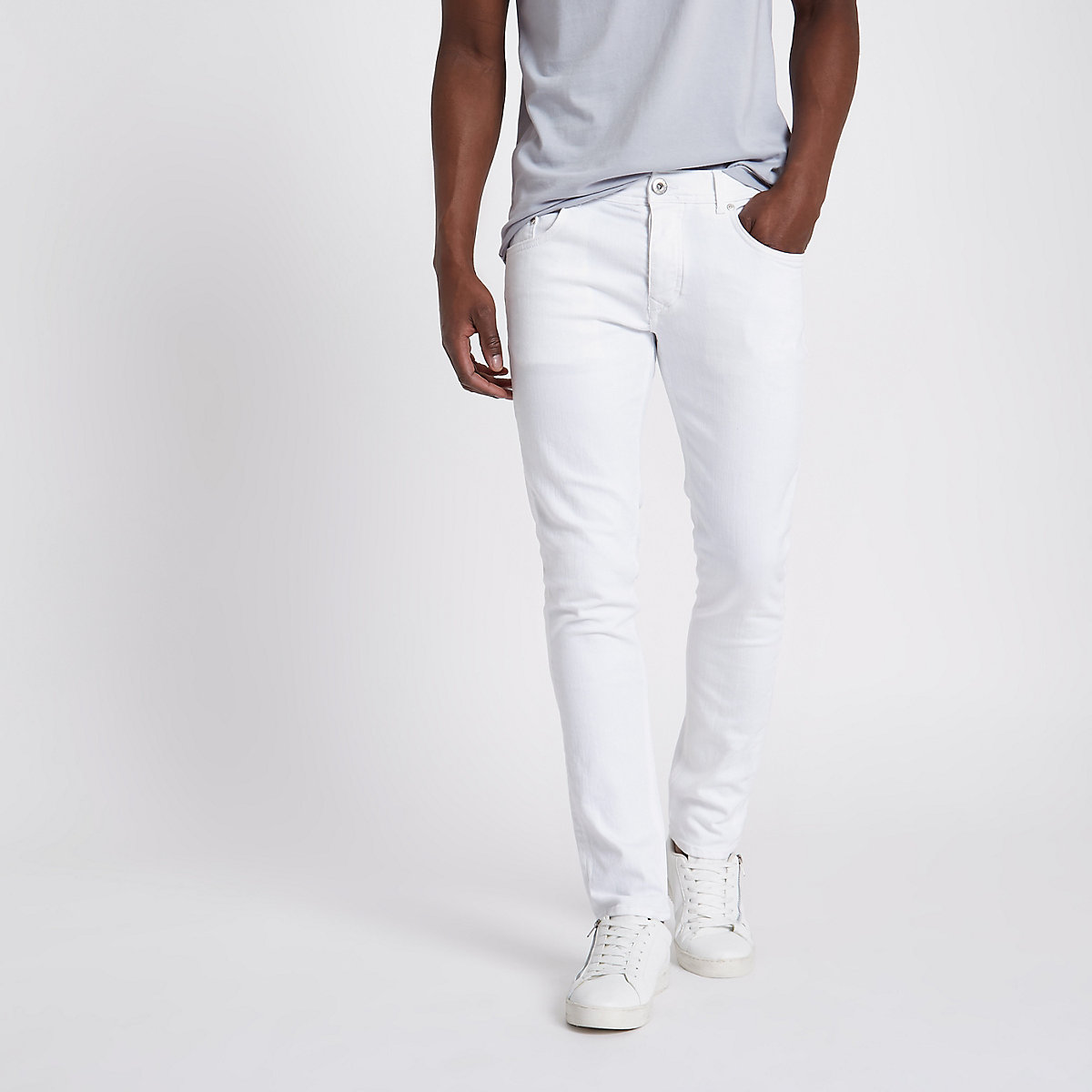 White Eddy skinny fit jeans