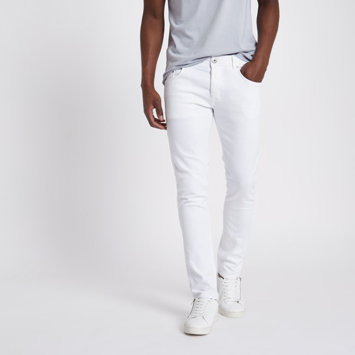 White Sid skinny fit jeans