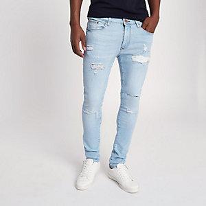 Light blue Danny super skinny ripped jeans