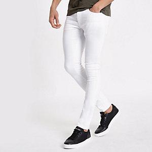 Danny – Weiße Superskinny Stretch Jeans