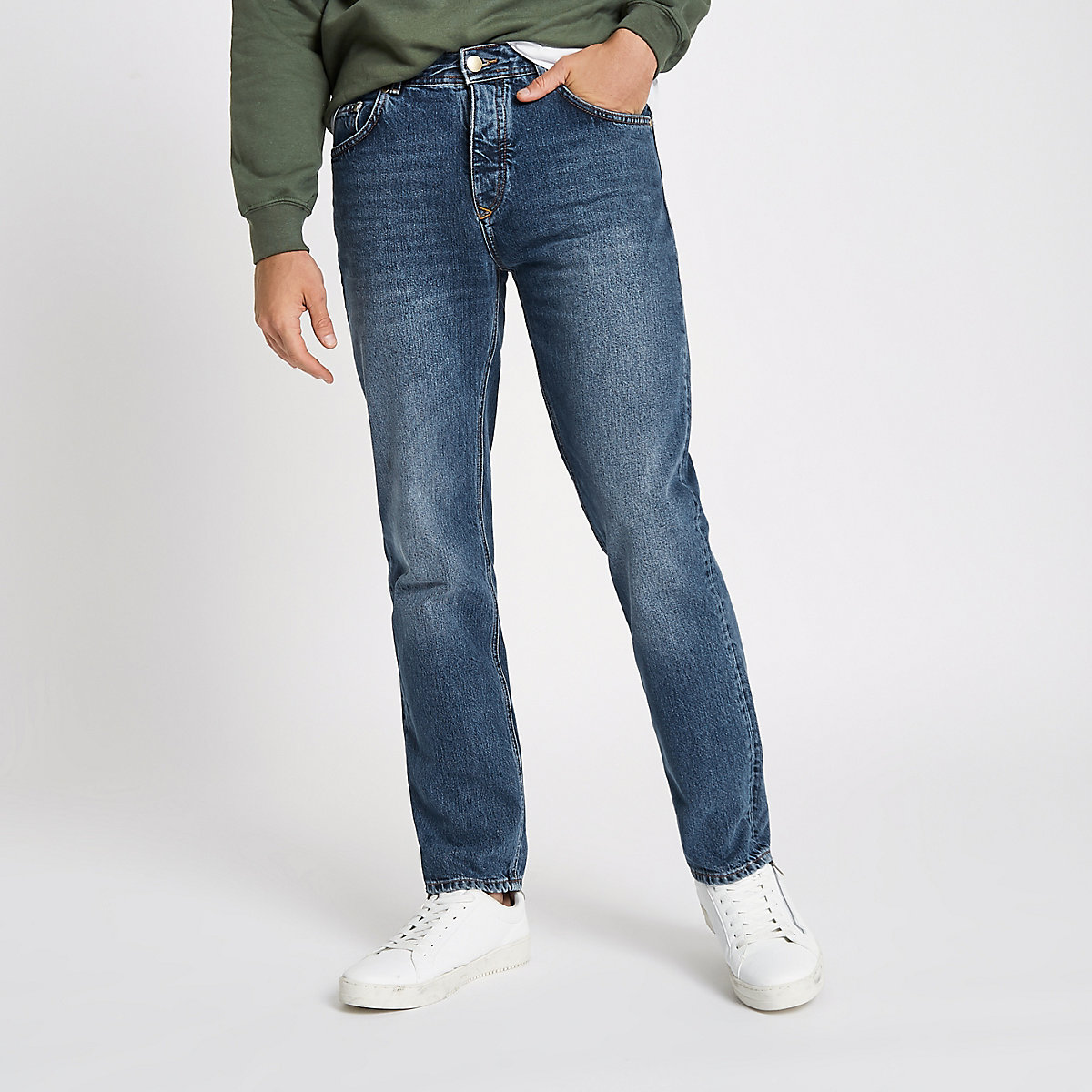 Mid blue Bobby standard jeans