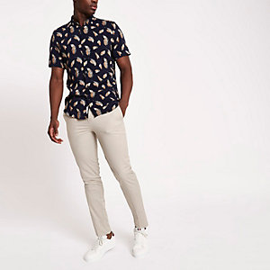 Sand skinny fit chino trousers