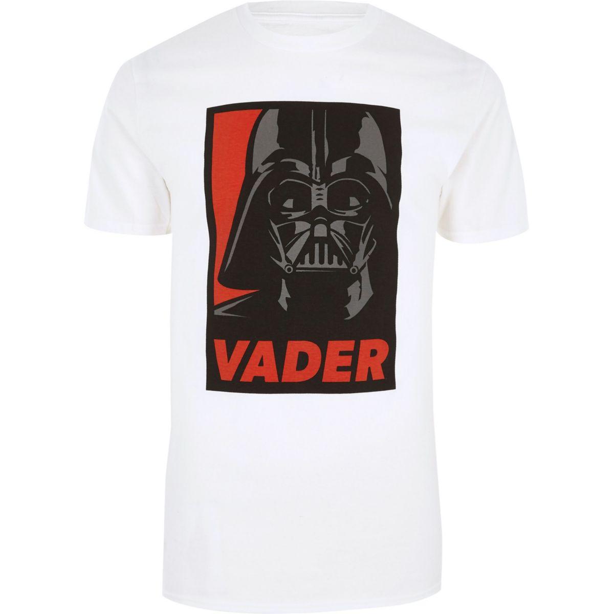 White Star Wars Darth Vader slim fit T-shirt