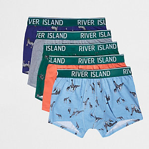 Blue safari print hipsters multipack
