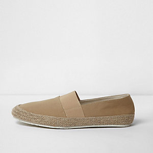 Light brown canvas espadrilles