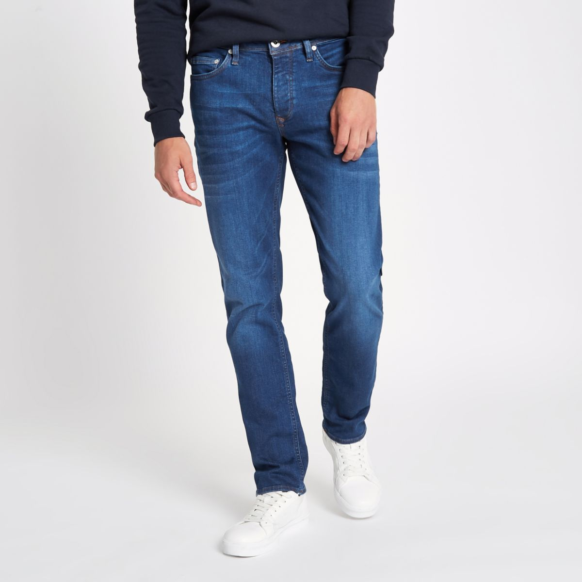 Mid blue slim fit Dylan jeans