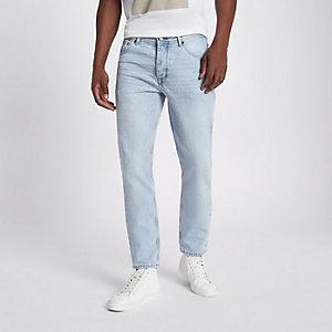 Jimmy - Lichtblauwe slim-fit smaltoelopende jeans