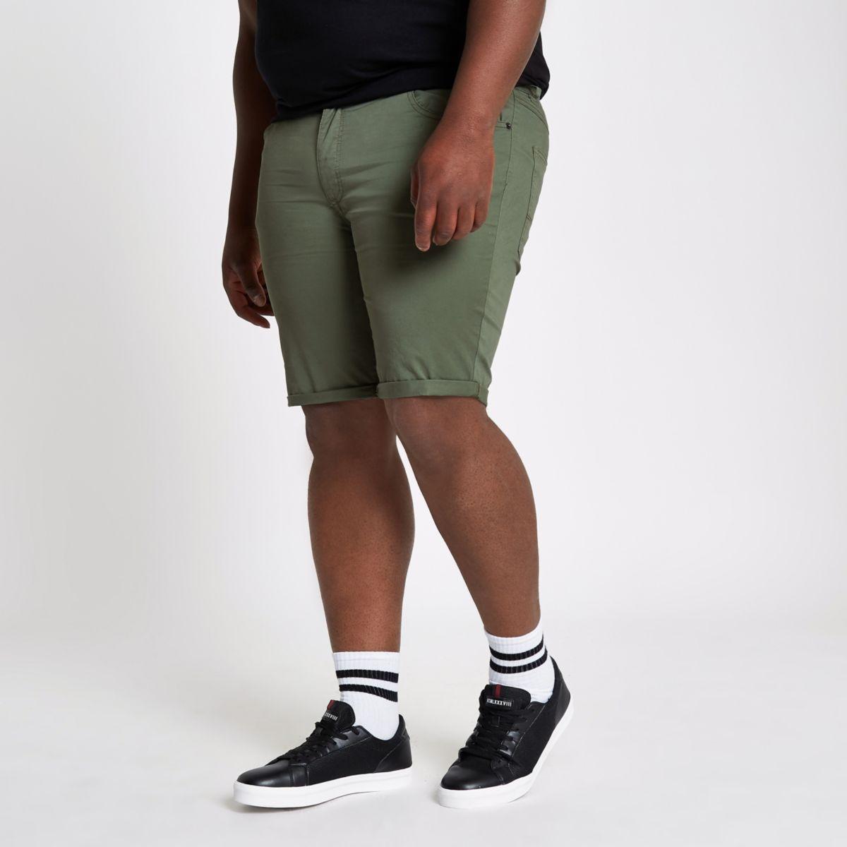 Big & Tall – Short chino skinny kaki