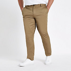 RI Big and Tall - Bruine slim-fit chino