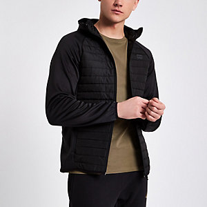 Jack & Jones Core black quilted jacket