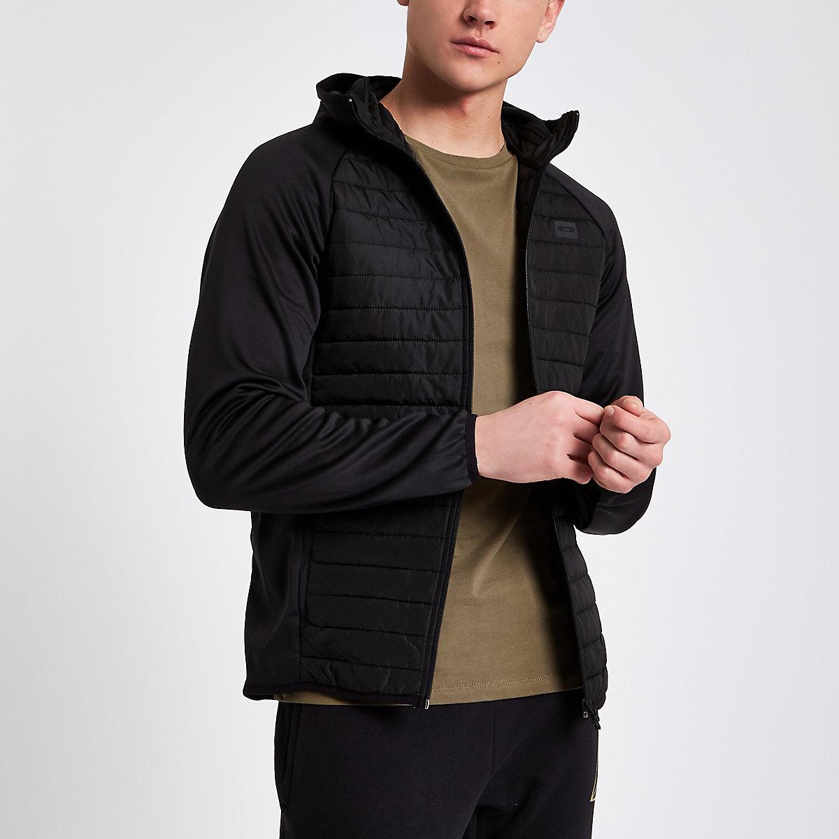Jack & Jones Core black quilted jacket