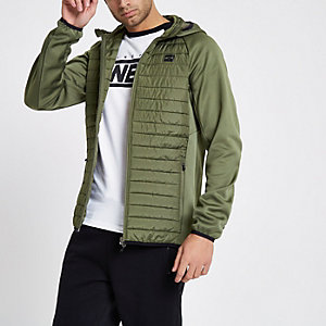 Jack & Jones Core – Dunkelgrüne Steppjacke