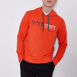 Red Jack & Jones Core print hoodie