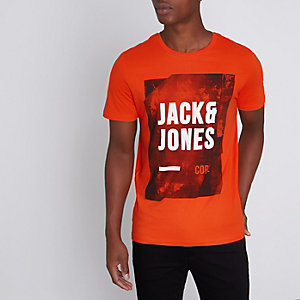 Red Jack & Jones Core print T-shirt